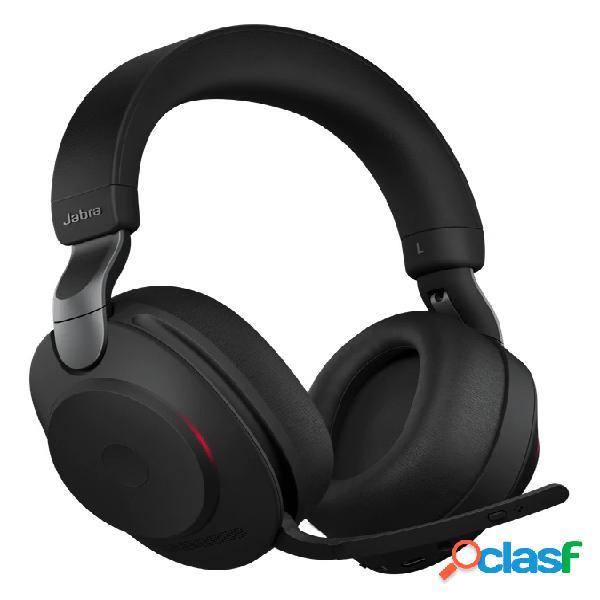 Jabra audífonos con micrófono evolve2 85 link380a ms stereo, bluetooth, inalámbrico, 1.2 metros, 3.5mm, negro
