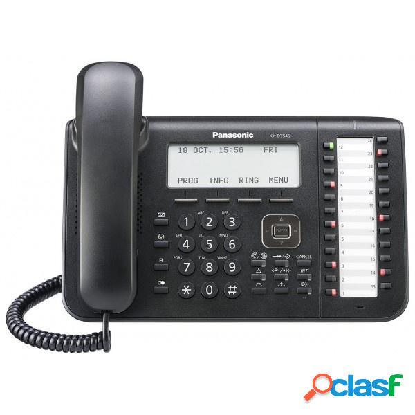 Panasonic telefono alámbrico kx-dt546x-b, altavoz, 24 botones, negro