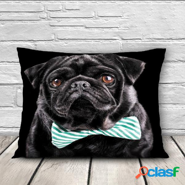 Patrones de animales 3d throw pillow caso sofá oficina coche funda de cojín decoración para el hogar