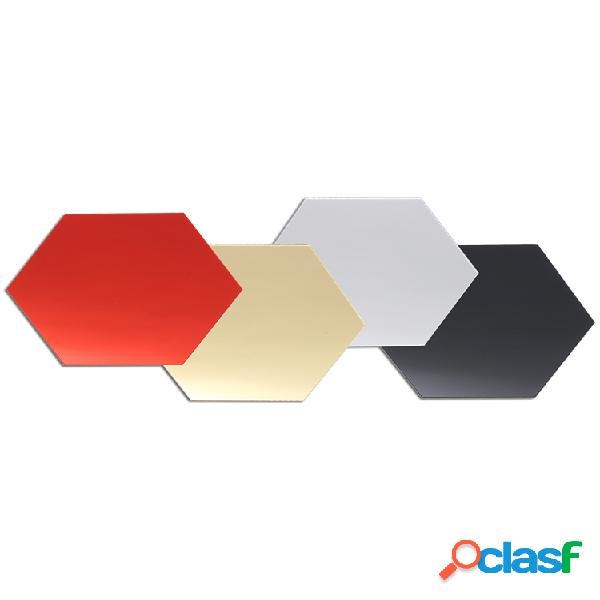 12 piezas 3d diy espejo hexagonal vinilo extraíble pegatinas de pared calcomanía decoración del hogar arte
