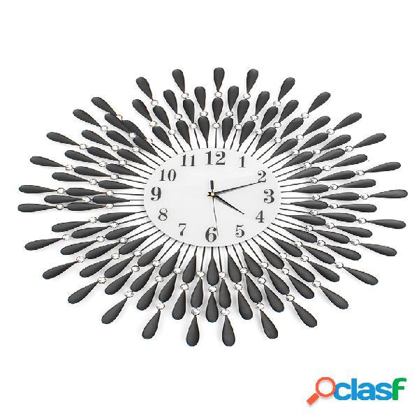 70cm pared de diamantes reloj pared grande reloj decoración decoración de sala de estar del hogar reloj