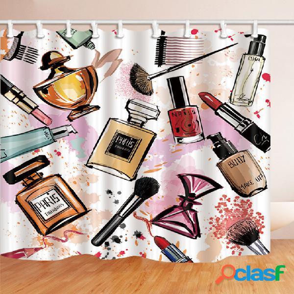 Fashion paris cosmetic theme patrón imprimir para cuarto de baño cortina de ducha 72 inch
