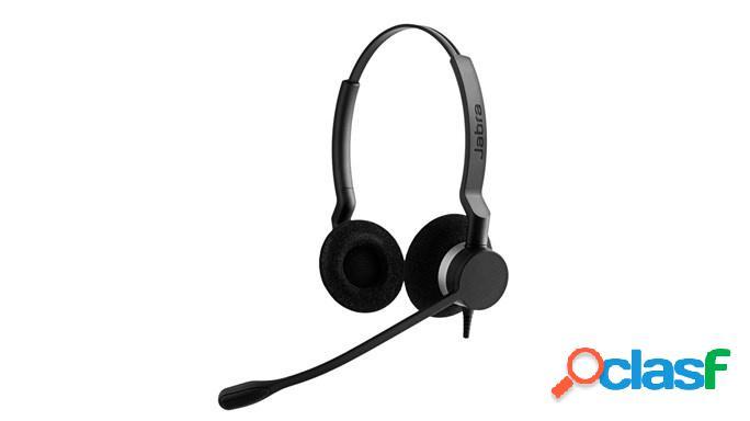 Jabra audífonos con micrófono biz 2300 usb microsoft lync duo, alámbrico, usb, negro