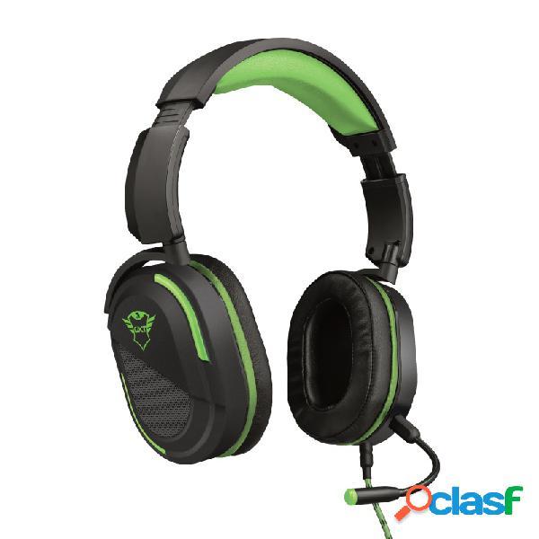 Trust audífonos gamer gxt 422g legion para xbox one/xbox series x/s/, alámbrico, 1 metro, 3.5mm, negro/verde
