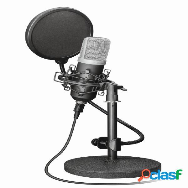 Trust micrófono gxt 252 emita, alámbrico, 200 ohm