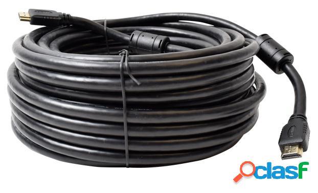 Epcom cable hdmi macho - hdmi macho, 20 metros, negro