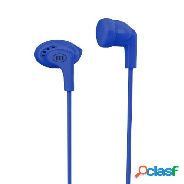Maxell audífonos intrauriculares stereobuds, alámbrico, 1 metro, 3.5mm, azul