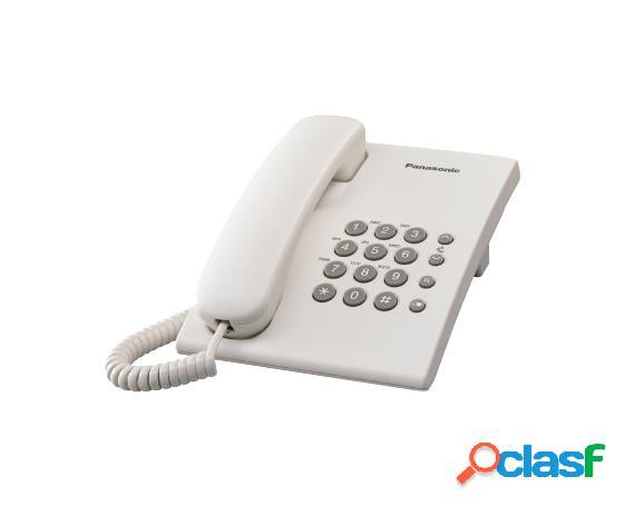 Panasonic teléfono alámbrico kx-ts500, blanco