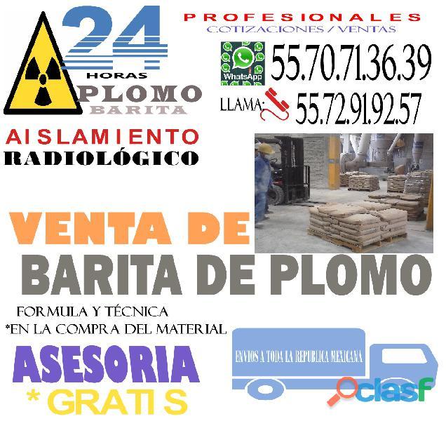 PROTECCION RADIOLOGICA CON BARITA DE PLOMO