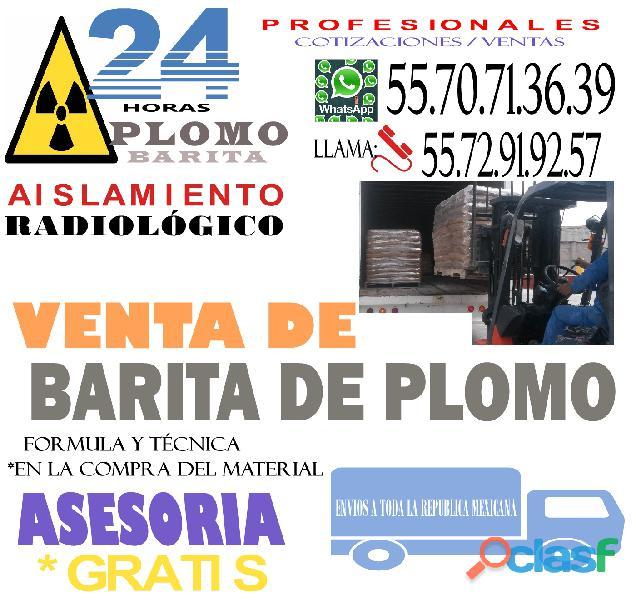 PROTECCION RADIOLOGICA CON BARITA DE PLOMO 1