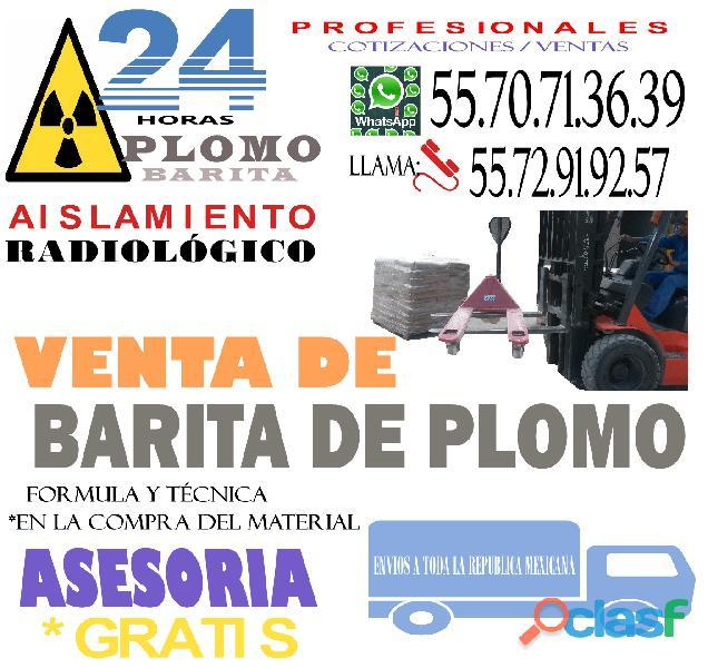 PROTECCION RADIOLOGICA CON BARITA DE PLOMO 2