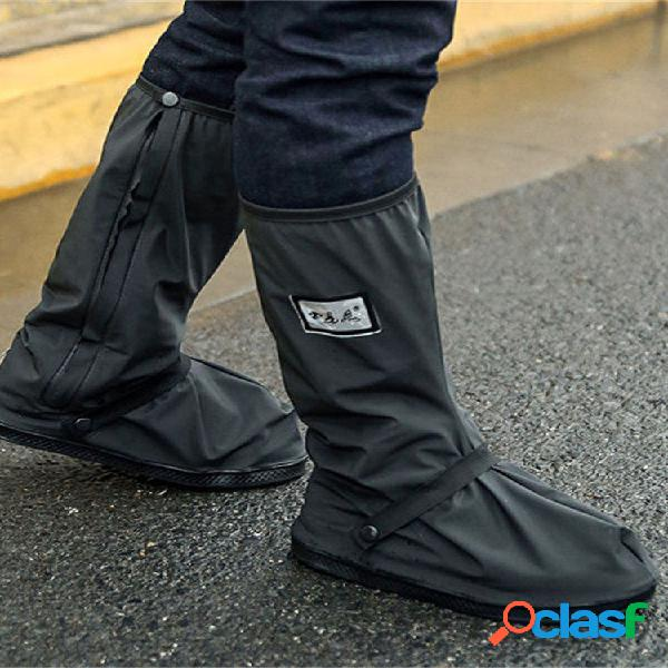 Impermeable lluvia botas cubierta reutilizable hombres mujer moto cubierta de zapatos de ciclismo de bicicleta
