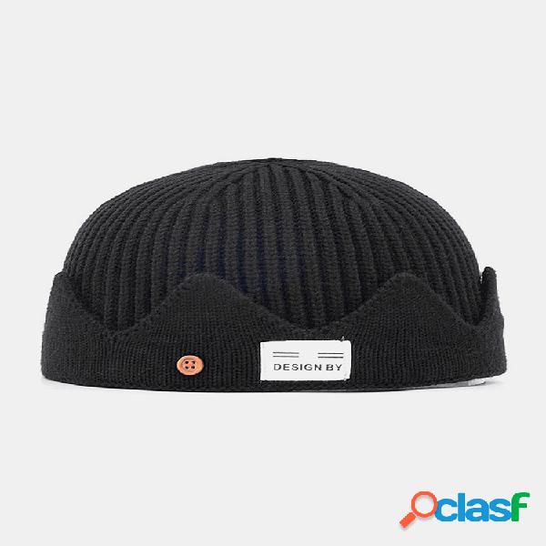 Hombres y mujer tejidos sombrero otoño e invierno lana melón cuero sombrero cálidos hombres y mujer sombreros cráneo gorras