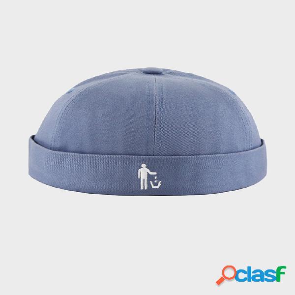 Melón unisex sombrero verano sección delgada hip hop propietario sombrero calle de ocio retro sin borde sombreros