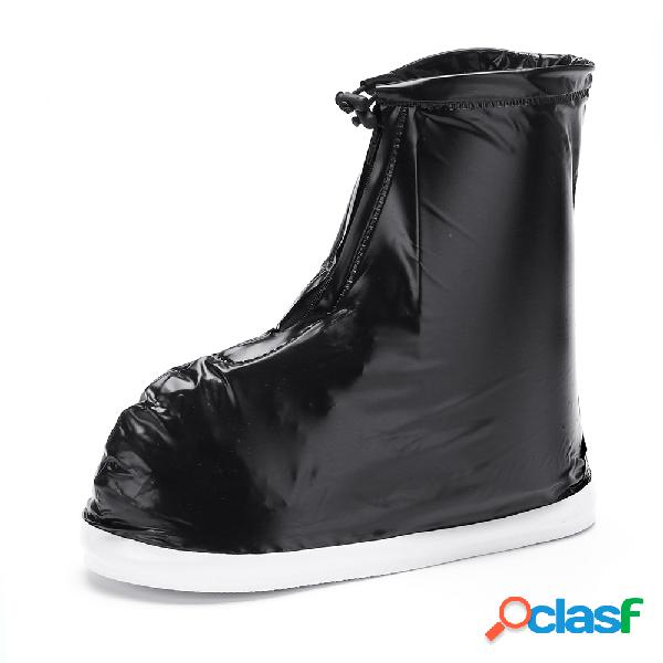 Hombres impermeable cremalleras antideslizantes tobillo casual lluvia botas cubiertas