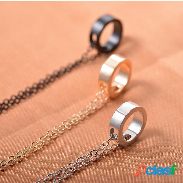 Anillo simple colgante collares classic collar de clavícula unisex regalo de joyería de pareja para mujer hombres