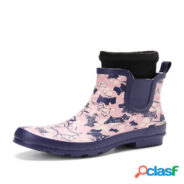 Socofy caucho natural antideslizante impermeable botines chelsea para lluvia botas