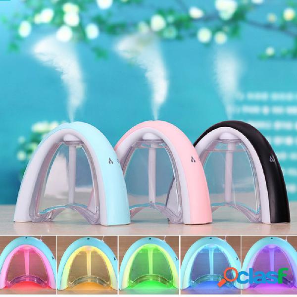 Led ultrasonic message board humidificador aroma air diffuser purificador lonizer atomizer 3 colores