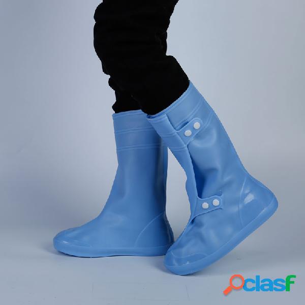 Hombres impermeable resistente al deslizamiento easy wear media pantorrilla lluvia botas cubiertas