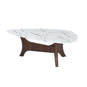 Mesa de centro consuma marmol cristal - marmol blanco