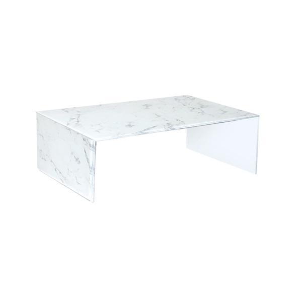 Mesa de centro elva marmol cristal - marmol blanco