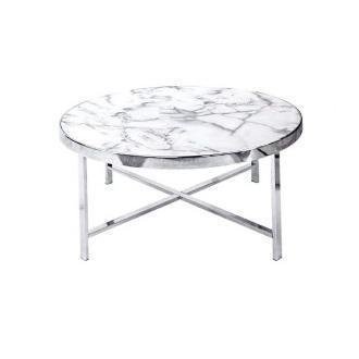 Mesa de centro milk - marmol blanco