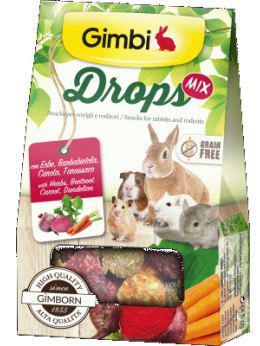 Gimborn gimbi drops mix alimento para conejos y roedores 50