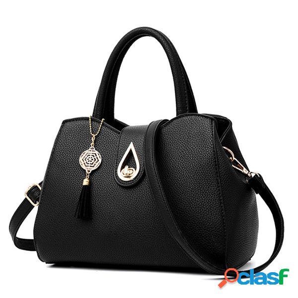 Mujer señora pu cuero crossbody bolsa elegante hombro de compras bolsa
