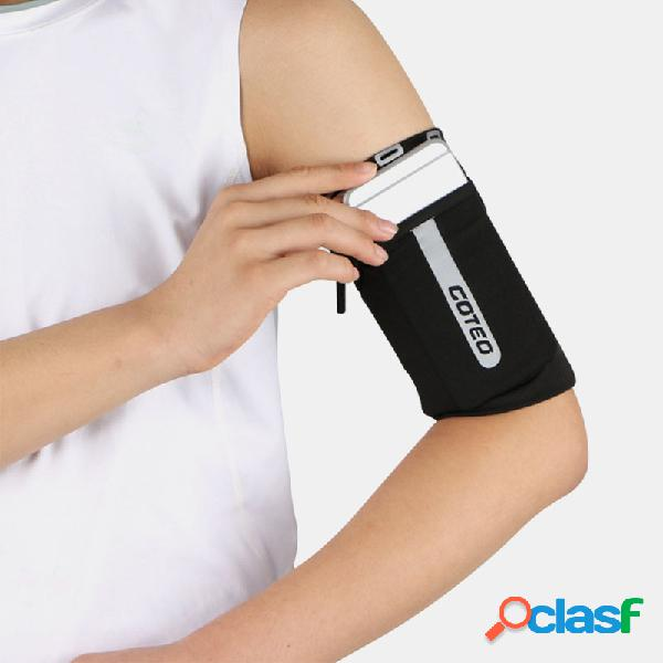 6.5 inch soporte para teléfono reflective running travel al aire libre ciclismo safe sport coin key wrist wallet