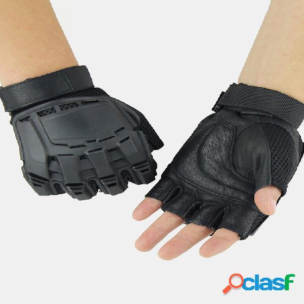 Táctica para exteriores guantes moto equitación montañismo medio dedo guantes