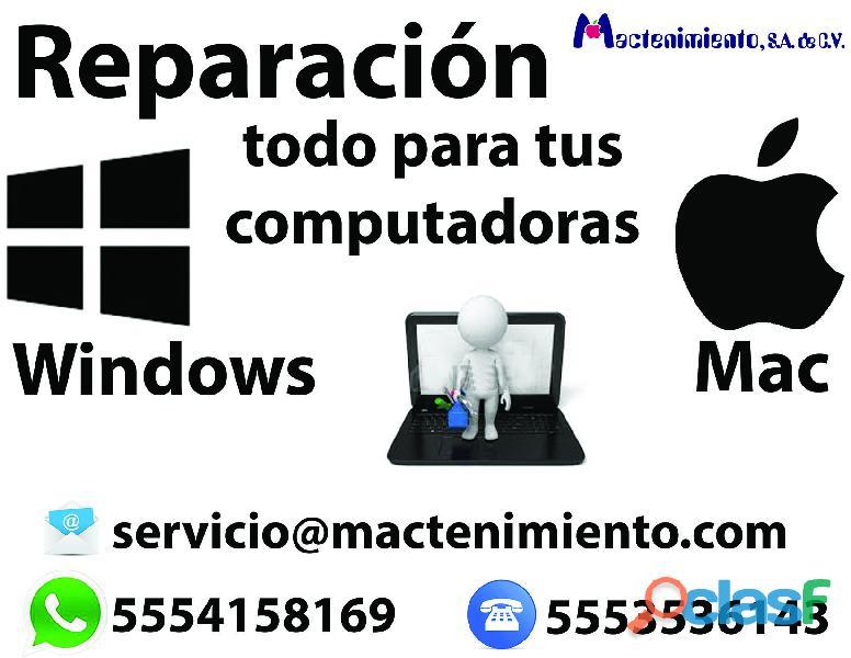Reparación de equipo mac