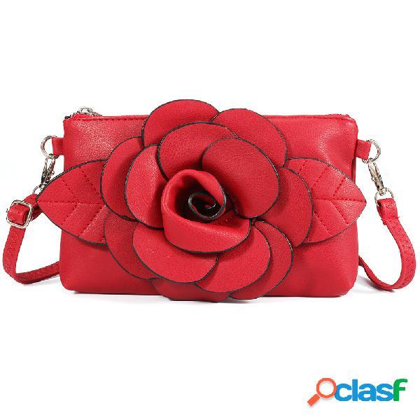 Mujer embrague informal de transporte múltiple bolsa cuero cruzado de cuero de pu bolsa hombro bolsa