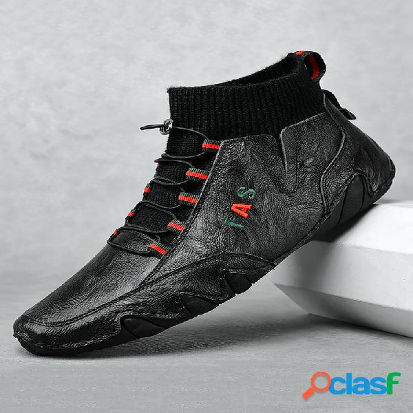 Tobillo de cuero con suela de pulpo antideslizante para hombre botas
