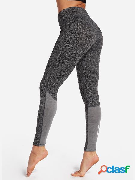 Parte inferior activa de cintura alta lisa gray plain