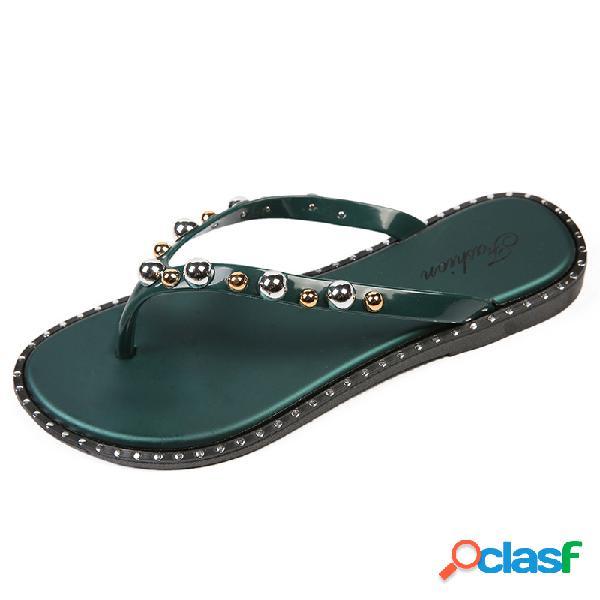 Mujer casual clip toe comfy soft sole flat zapatillas