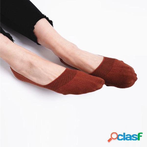Mujer algodón antideslizante invisible barco calcetín verano delgado transpirable corto tobillo calcetines