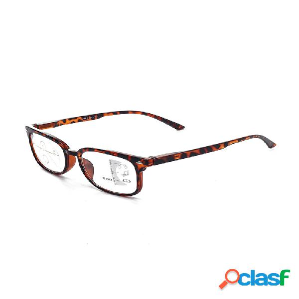 Tr90 lectura retro progresiva de enfoque múltiple gafas multifunción de uso dual de luz anti-azul gafas