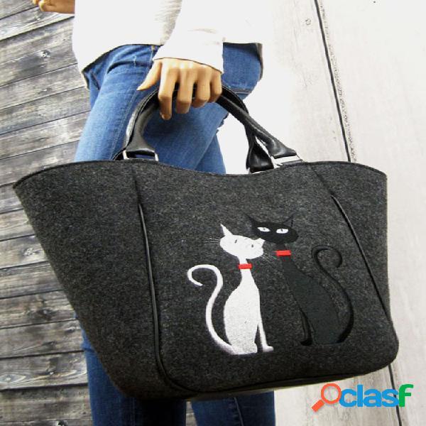 Bolso bandolera mujer bolsa gato patrón