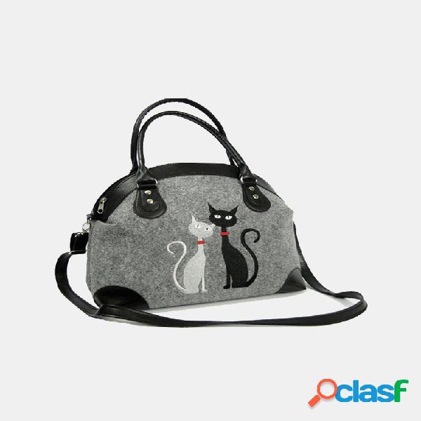 Bolso cruzado para mujer bolsa gato patrón bolso