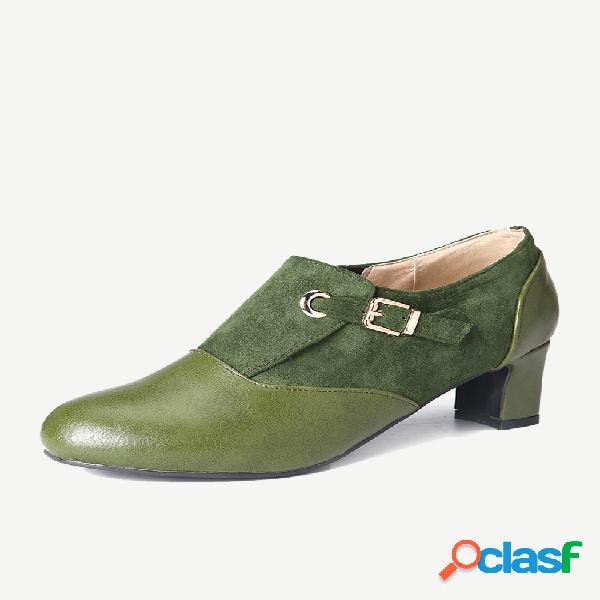 Mujer plus tamaño simple hebilla pequeña correa decoración tobillo botas