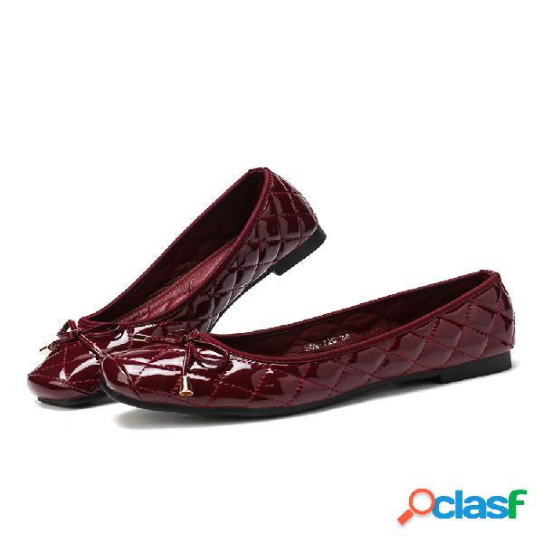 Mujer slip con decoración de lazo en zapatos planos ocasionales