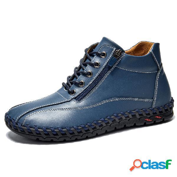 Menico cuero cosido a mano para hombres soft casual botas