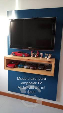 Mueble azul para tv