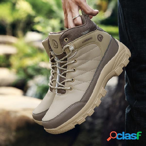 Hombres al aire libre antideslizante impermeable senderismo casual botas