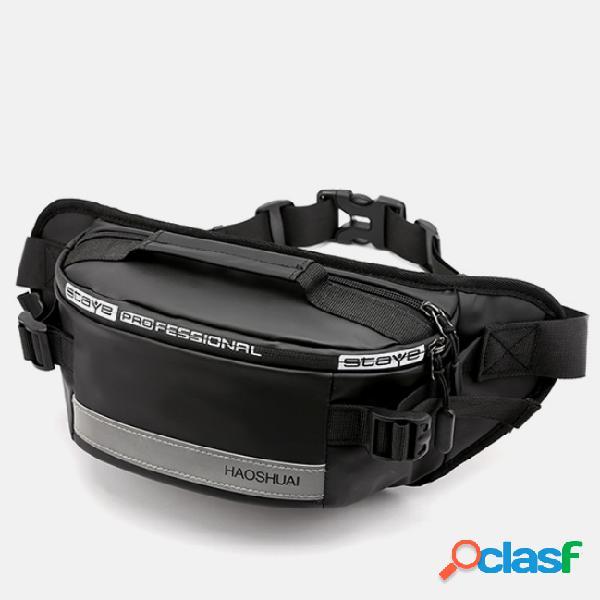 Hombres impermeable anti robo reflexivo al aire libre cofre bolsa cinturón bolsa
