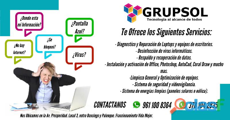 Servicios técnicos especializados en cómputo y redes de voz y datos.