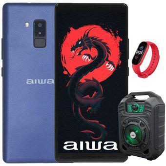 Celular AIWA 16GB 2GB - Azul + Bocina y smart watch