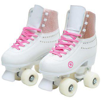 Patines de 4 ruedas para niñas Fuxion Sports Escarcha