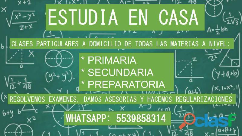 Apoyo Escolar Con Clases, Trabajos Y Examenes. 1