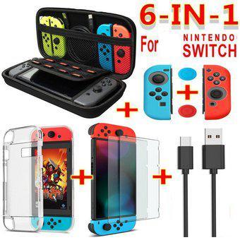 Para Nintendo Switch 6 In1 Accesorios De Juego Se Cable